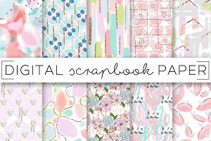 Pastel Painterly Digital Papers