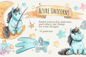 Azure Unicorns Set + 6 patterns