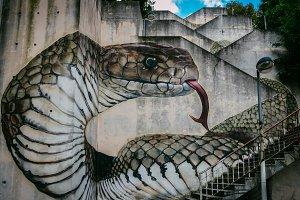 Snake or cobra street art