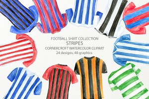 Striped football Shirt Clipart