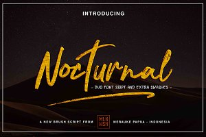 New! Nocturnal Duo Font