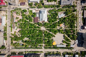 Aerial photography of a park