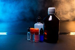 Vaping liquid isolated