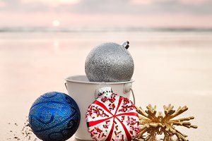 Christmas Decorations At The Beach