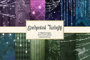 Enchanted Twilight Digital Paper