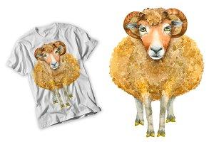 Sheep Watercolor