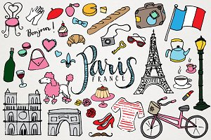 Paris France Clipart & Illustrations