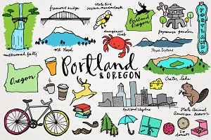 Portland & Oregon Clipart