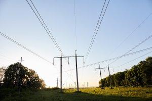 power lines outdoor