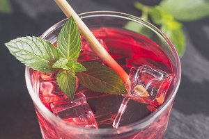 Refreshing grenadine drink