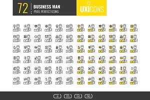 UXicons: 72 Businessman Icons