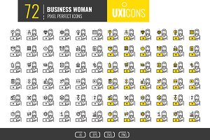 UXicons: 72 Business Woman Icons