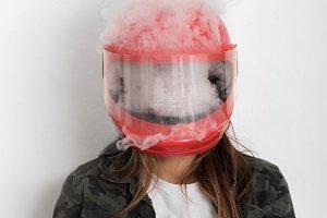 lots of vapor or steam or smoke insi