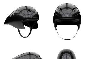 Time trial bicycle carbon helmet