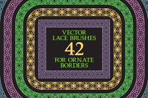 42 vector lace brushes