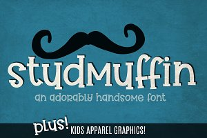 Studmuffin Font + Apparel Graphics