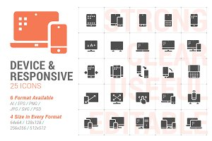 Responsive & Device Filled Icon