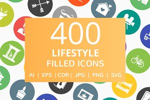 400 Lifestyle Filled Round Icons