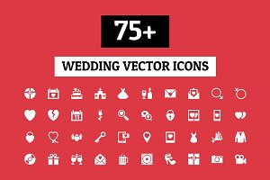 75+ Wedding Vector Icons