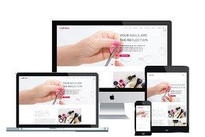 LT Nail Onepage – Joomla Salon