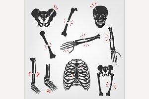 Bones Fractures Icons