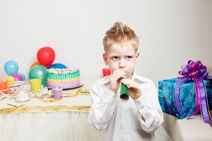 lovely boy is celebraiting birthday party