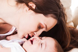 The mother's love for baby