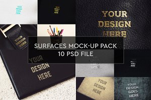 Surfaces Mock-up 10 PSD Pack #1