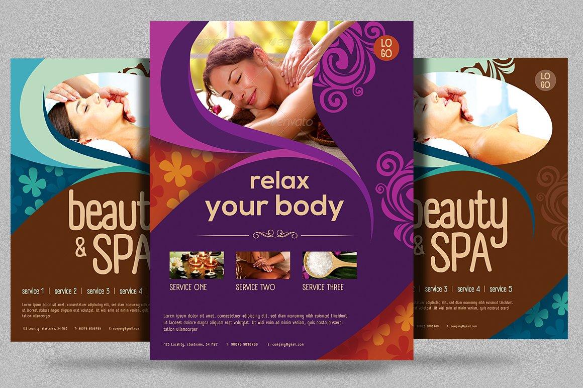 Beauty Spa Promotion Flyer V2 Flyer Templates Creative Market