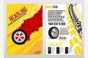 Automotive Tire Brochure Template