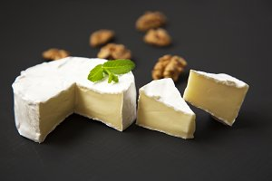 Cheese camembert or brie with