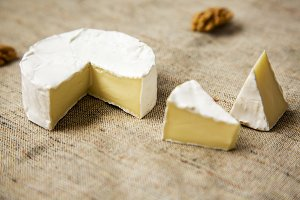 Cheese camembert and  slices with