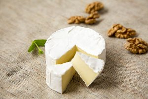 White cheese camembert or brie