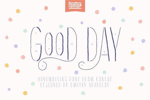 Script Fonts: Fontop - Good Day Font