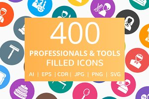 400 Professional & Tools Filled Icon