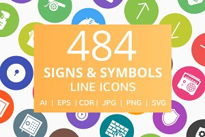 484 Sign & Symbols Filled Round Icon