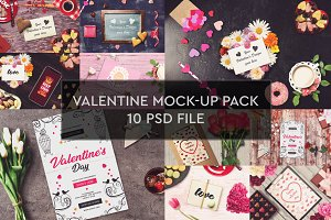 Valentine Mock-up 10 PSD Pack #1