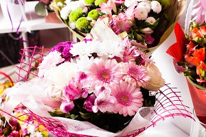 Bouquet decorate in shop