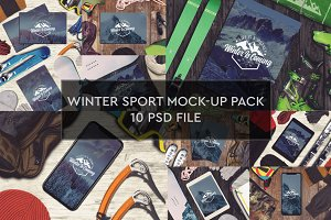 Winter Sport Mock-up 10 PSD Pack #1
