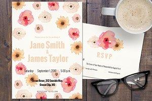 Flowers Wedding Invitation