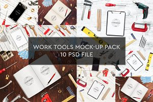 Work Tools Mock-up 10 PSD Pack #1