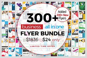 300+ Flyer Template Bundle 98% OFF