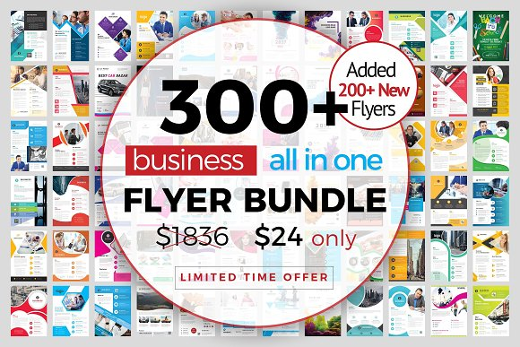 300+ Flyer Template Bundle 98% OFF