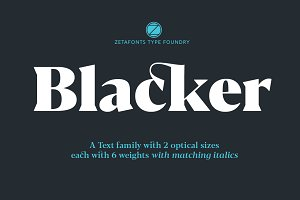 Blacker - 24 fonts 70% OFF!