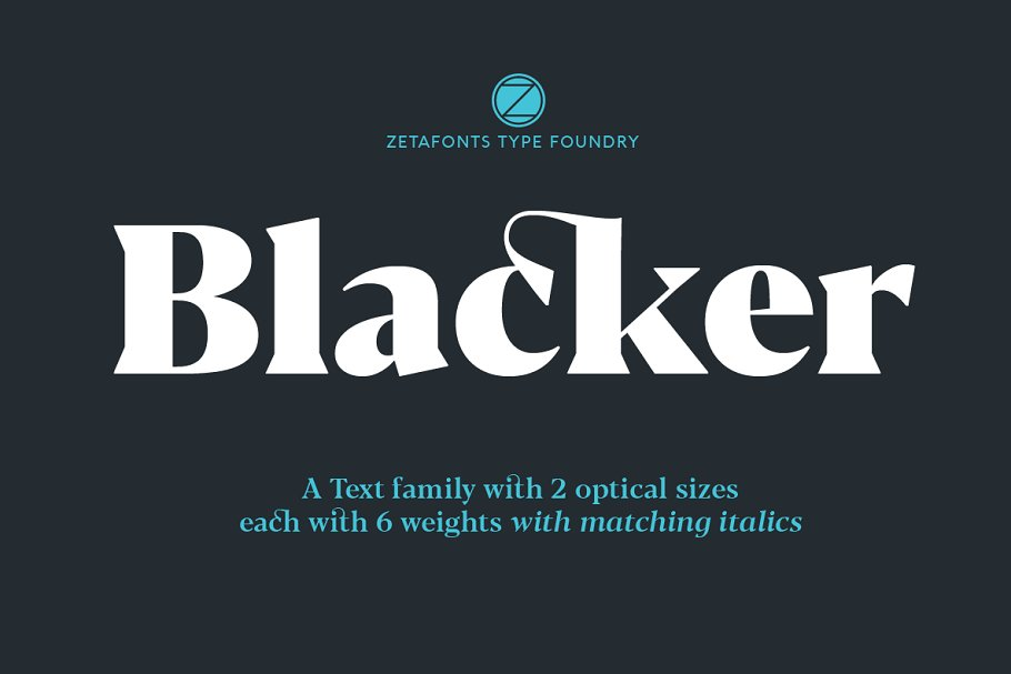 Blacker - 24 fonts