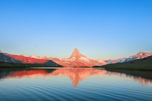 Mountain Matterhorn at sunrise