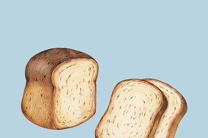 Illustration of Freshly baked bread