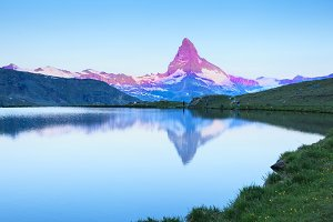 Mountains in Swiss Alps