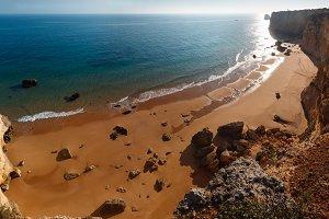Summer Atlantic ocean coastline