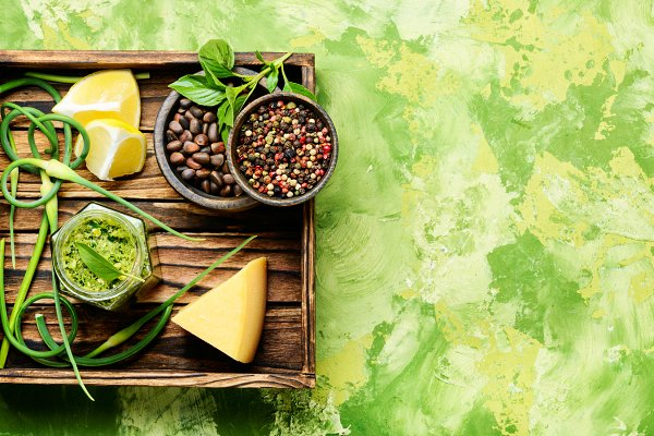 Food Stock Photos - Pesto - Italian cuisine sauce